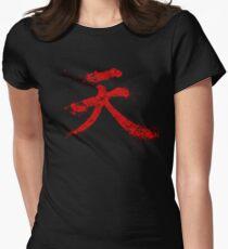 Akuma Kanji Women's Fitted T-Shirt