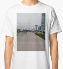 #Sidewalk, #Stamford, #StamfordCity, #winter, #nature, #snow, #frost, #outdoors, #icee #cold, #wood, #season, #bird, #tree, #frozen, #dry, #garden, #grass, #weather, #horizontal, #colorimage Classic T-Shirt