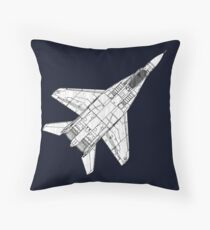 Mig 29 Fighter Plane Throw Pillow