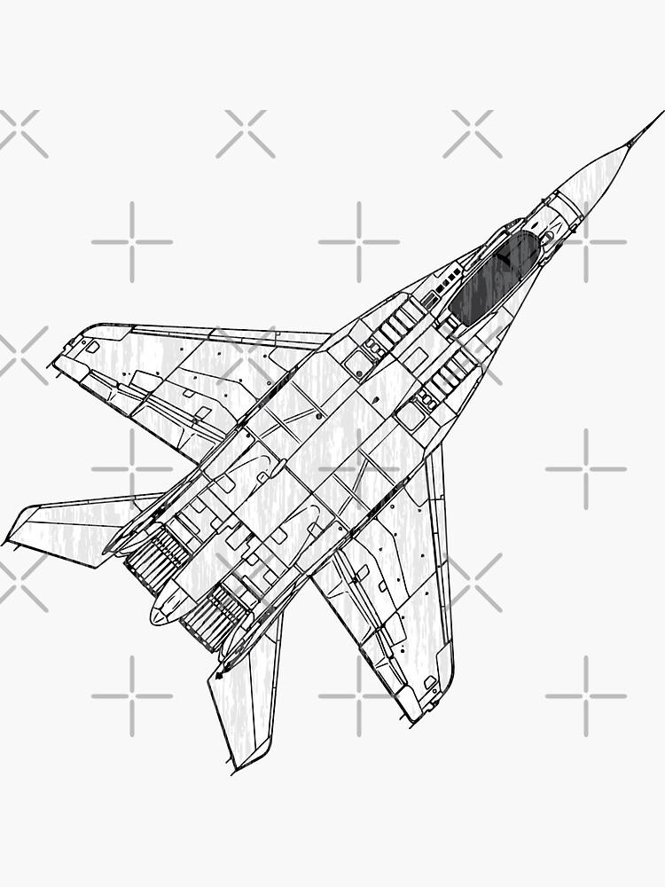 Mig 29 Fighter Plane Sticker By Quark