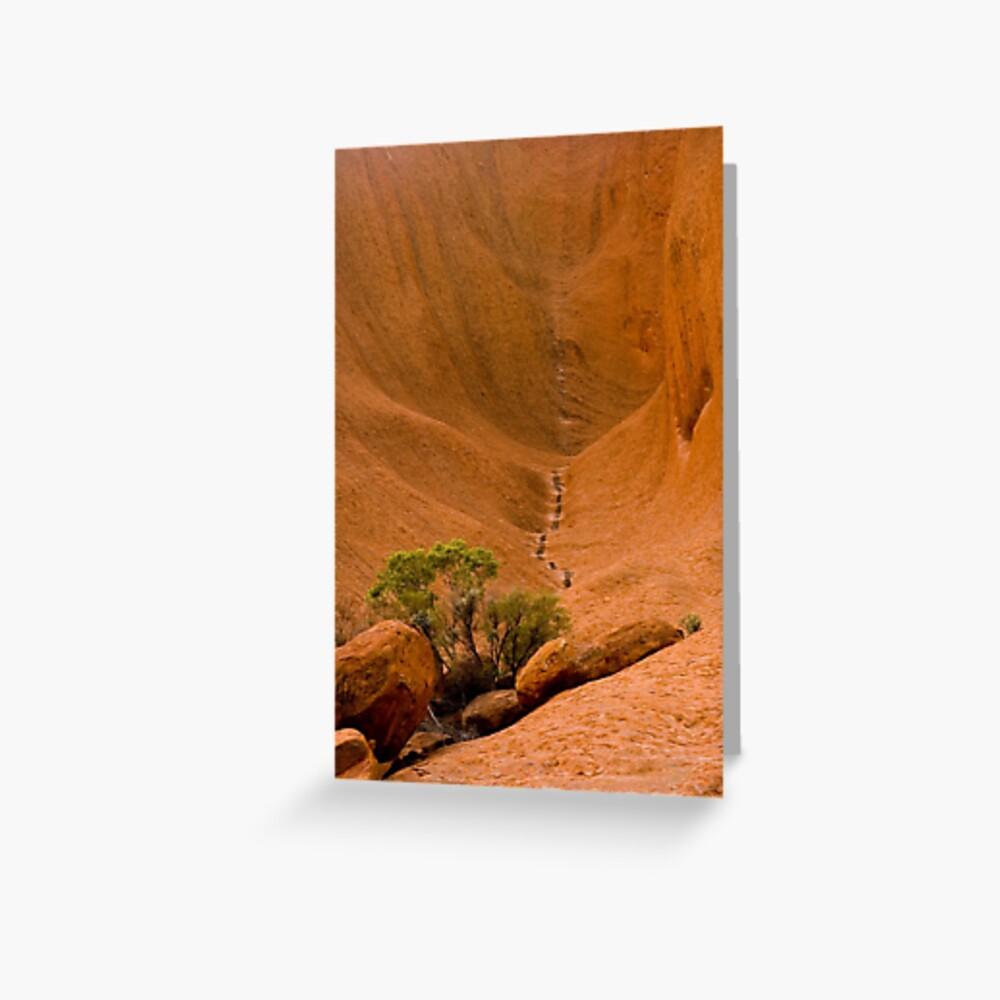 Uluru Rock Face Greeting Card