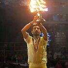 India - Varanasi evening ceremony  by bubblehex08