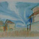 Ghost town    2darts,  by Ian Farnbach