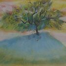 Fruit tree at sunset    2darts,  by Ian Farnbach