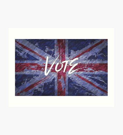 Vote for Democracy Art Print