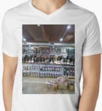 #convenience, #store, #Stamford, #StamfordCity, #winter, #nature, #snow, #frost, #outdoors, #icee #cold, #wood, #season, #bird, #tree, #frozen, #dry, #garden, #grass, #weather, #colorimage Men's V-Neck T-Shirt