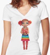 Arwen Women's Fitted V-Neck T-Shirt