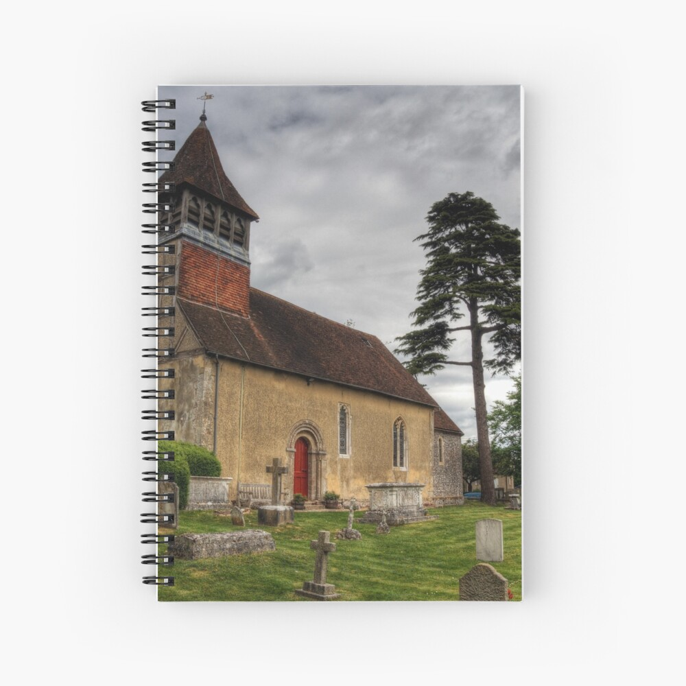 the Church at Martyr Worthy, Hampshire Spiral Notebook