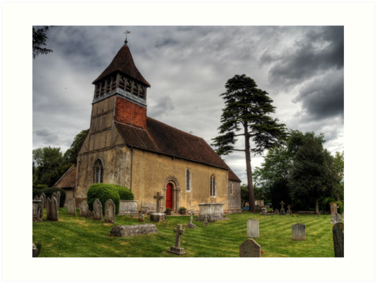 the Church at Martyr Worthy, Hampshire by NeilAlderney