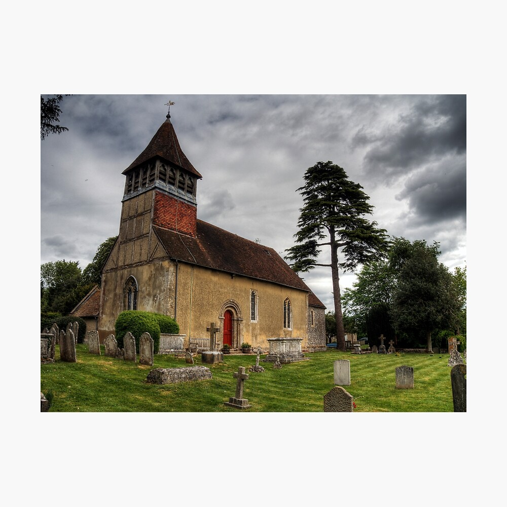the Church at Martyr Worthy, Hampshire Photographic Print