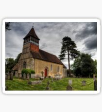 the Church at Martyr Worthy, Hampshire Sticker