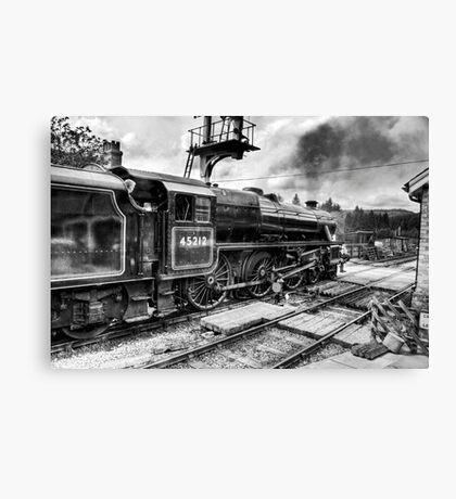 No.45212 Leaving Levisham Station Canvas Print