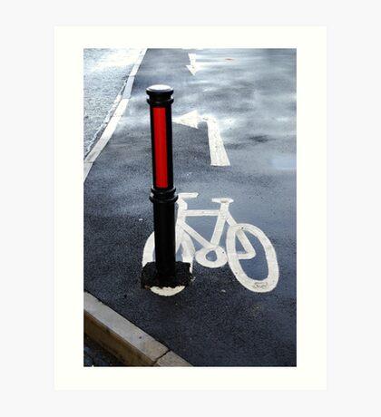 Oops Bike Lane!! Art Print