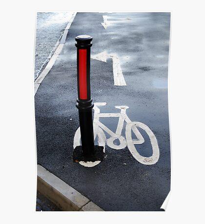 Oops Bike Lane!! Poster