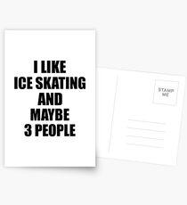 ICE SKATING Lover Funny Gift Idea I Like Hobby Postkarten