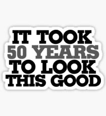 50th birthday humor Sticker