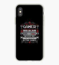 Gamer retrogames console iPhone Case