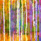 Colorful Forest Abstract | Triptych Part 3 by Menega  Sabidussi