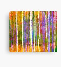 Colorful Forest Abstract | Triptych Part 3 Canvas Print