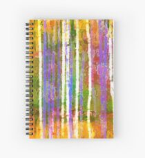Colorful Forest Abstract | Triptych Part 3 Spiral Notebook