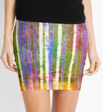 Colorful Forest Abstract | Triptych Part 3 Mini Skirt