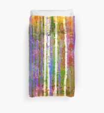Colorful Forest Abstract | Triptych Part 3 Duvet Cover