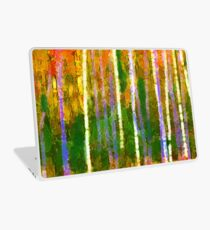 Colorful Forest Abstract | Triptych Part 2 Laptop Skin