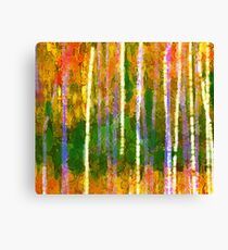 Colorful Forest Abstract | Triptych Part 2 Canvas Print