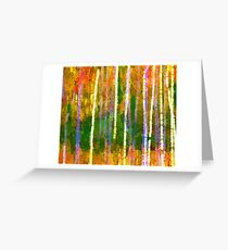 Colorful Forest Abstract | Triptych Part 2 Greeting Card