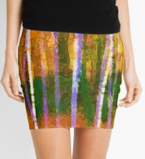 Colorful Forest Abstract   Triptych Part 1 Mini Skirt