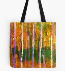 Colorful Forest Abstract | Triptych Part 1 Tote Bag