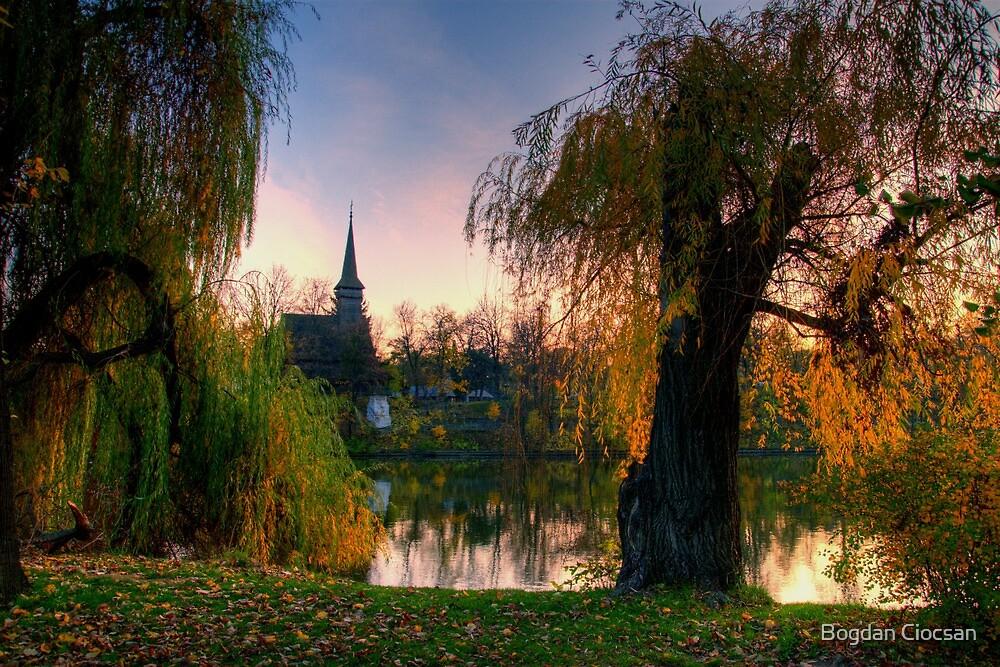 Sunset in Herastrau by Bogdan Ciocsan