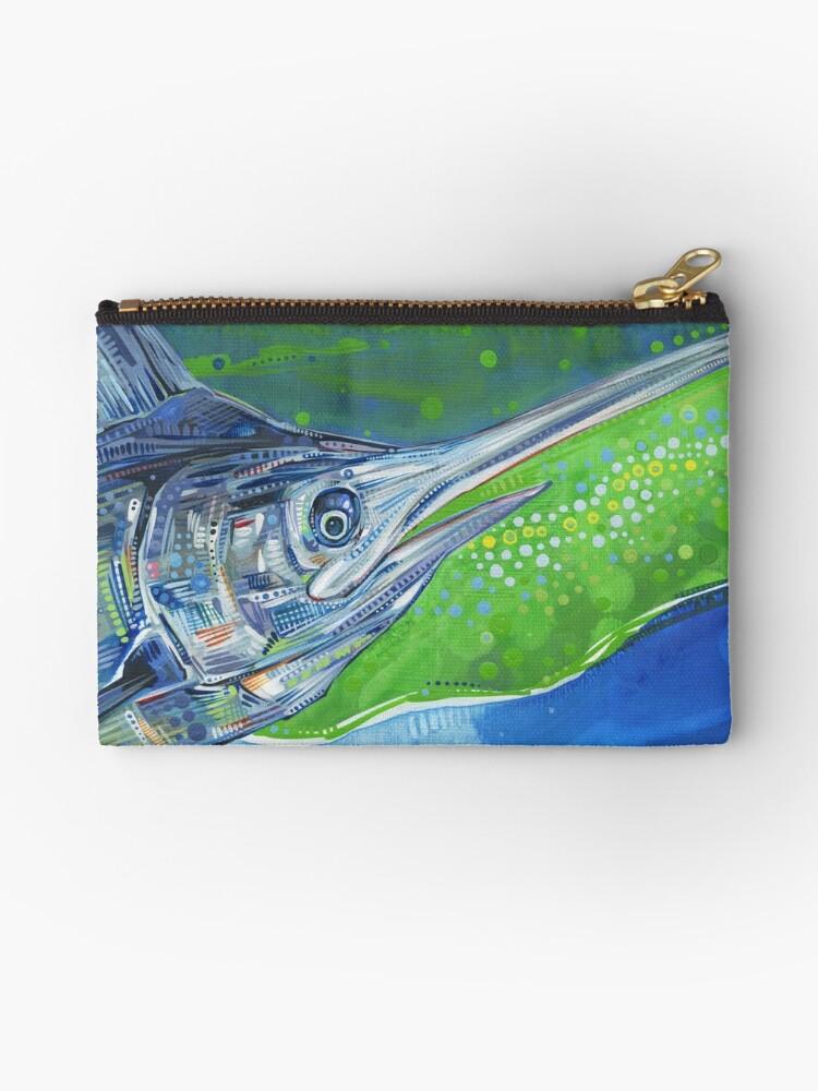 Blue marlin fish painting - 2012 by Gwenn Seemel