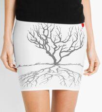 Banksy Heart Tree Mini Skirt