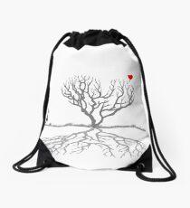 Banksy Heart Tree Drawstring Bag
