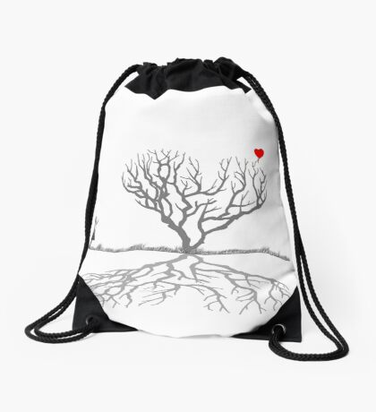 Banksy Heart Tree Drawstring Bag