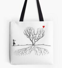 Banksy Heart Tree Tote Bag