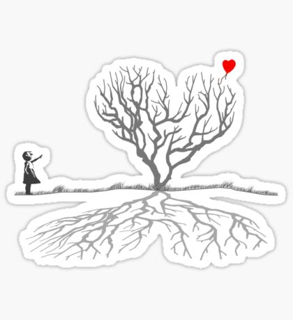 Banksy Heart Tree Sticker