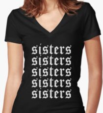 15de6b03 Sisters James Charles Merch Repeat White Fitted V-Neck T-Shirt