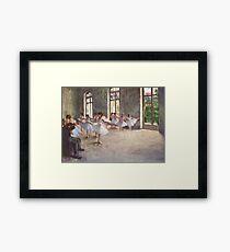 Edgar Degas French Impressionism Oil Painting Ballerinas Rehearsing Dancing Framed Print