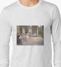 Edgar Degas French Impressionism Oil Painting Ballerinas Rehearsing Dancing Long Sleeve T-Shirt