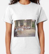 Edgar Degas French Impressionism Oil Painting Ballerinas Rehearsing Dancing Classic T-Shirt