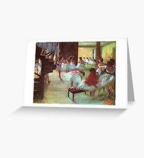 Tarjeta de felicitación Edgar Degas Impresionismo Francés Pintura Al óleo Bailarinas Ensayando Bailar En La Escuela De Danza
