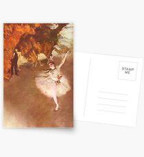 Edgar Degas French Impressionism Oil Painting Ballerinas Rehearsing Dancing Postcards