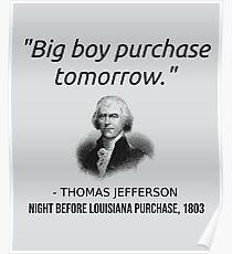 Lustiges Thomas Jefferson USA Geschichtslehrer-T-Shirt Louisiana Poster