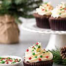 Christmas Chocolate Gingerbread Cupcakes 2 by carlacardello