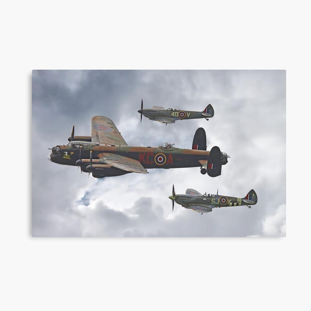 El vuelo conmemorativo de la batalla de Gran Bretaña - Shoreham 2014 Lienzo