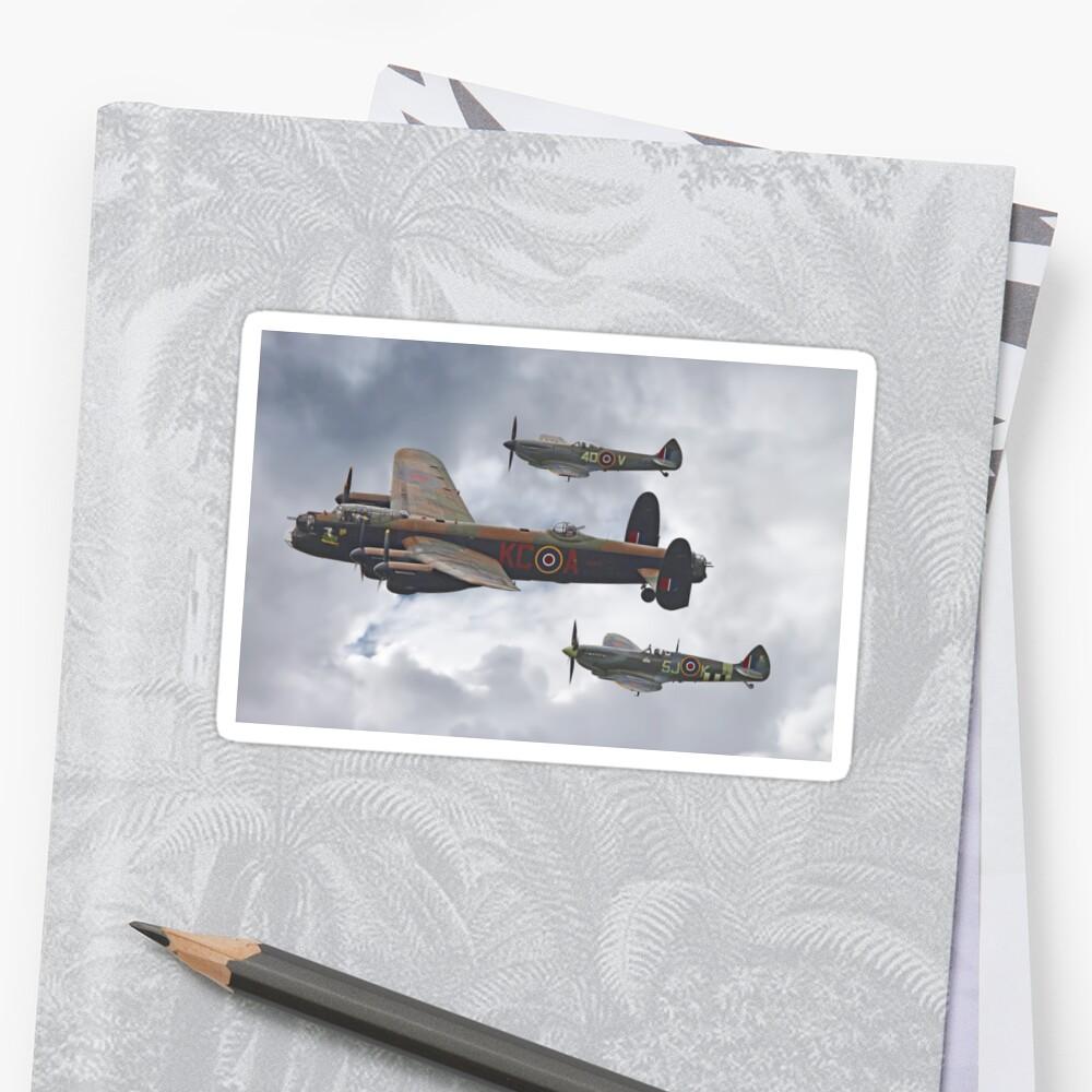 El vuelo conmemorativo de la batalla de Gran Bretaña - Shoreham 2014 Pegatina
