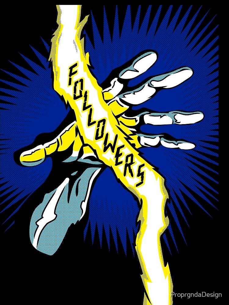 Comic Hands - Followers by ProprgndaDesign