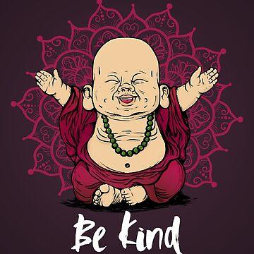 «Be Kind Little Buddha shirt - Bouddha mignon bonne ambiance et une conception de t-shirt positive» par ChillingNation
